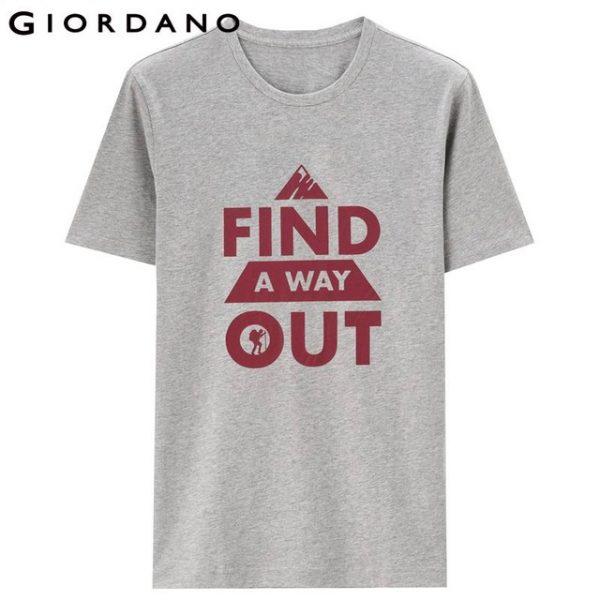 Giordano Men Tshirt Casual Cotton T-Shirt Short Sleeve Graphic Tee Men Brand Tee Shirt Homme
