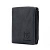 BULL CAPTAIN Vintage Leather Trifold Wallet For Men