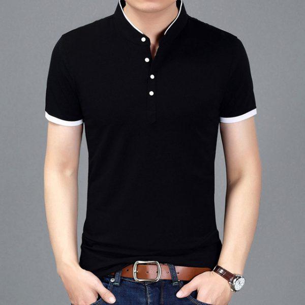 Summer New Fashion Brand Clothing Tshirt For Men – Mandarin Collar Casual T-Shirts