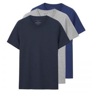 Giordano Men T-shirt Short Sleeves 3-pack