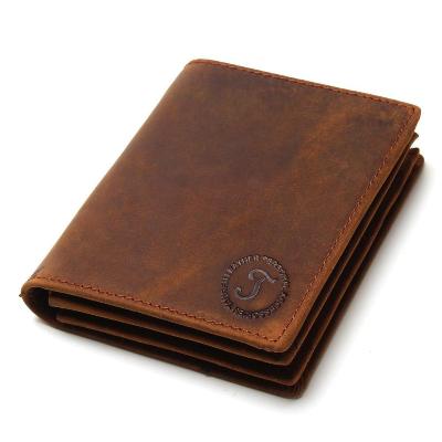 2018 Vintage Crazy Horse Handmade Leather Men Wallets