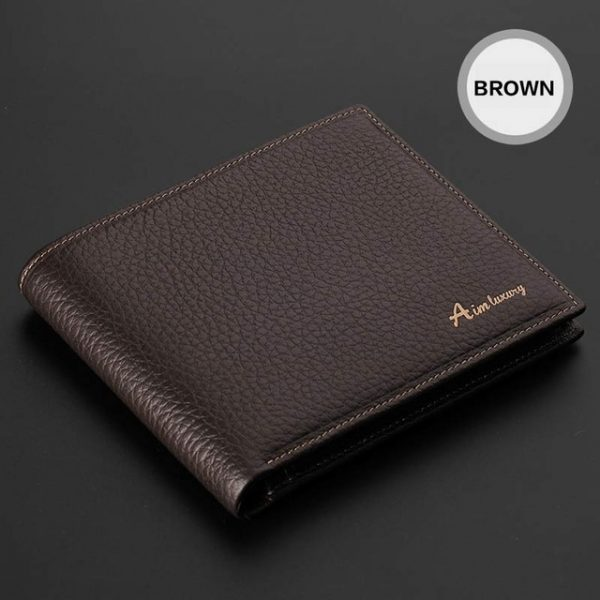 AIM Classic Men Brown Wallets – 100% Real Genuine Leather Wallet