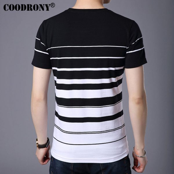 COODRONY Pure Cotton Short Sleeve T-Shirt For Men