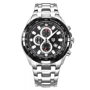 PAGANI DESIGN Brand Men Stainless Steel Wrist Watch – Waterproof Chronograph Watch For Men
