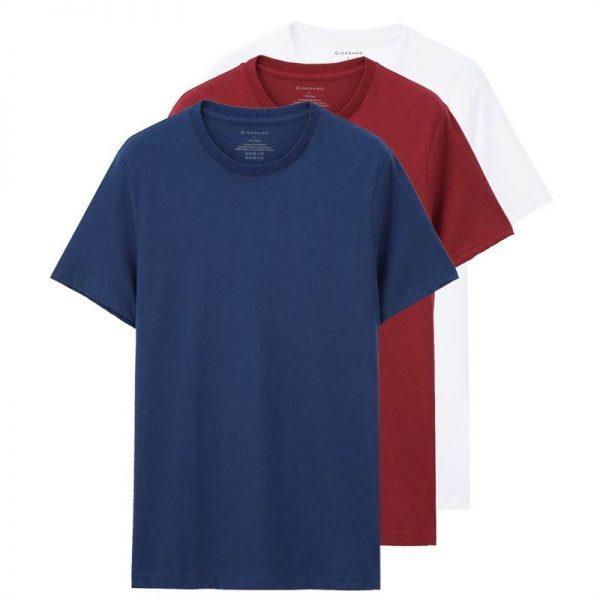 Giordano Men T-shirt Short Sleeves 3-pack