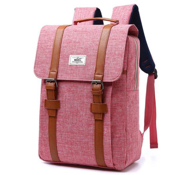 Vintage Men Women Canvas Backpacks – Large Capacity Laptop Backpack Fashion Men Backpack