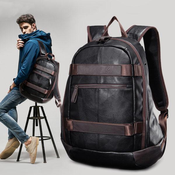 Vintage Men's Leather Backpack – Large Travel Laptop Bag For Men