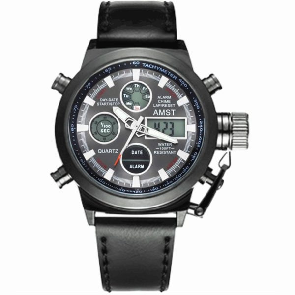Military Watches With Nylon & Leather Strap – LED Watches For Men