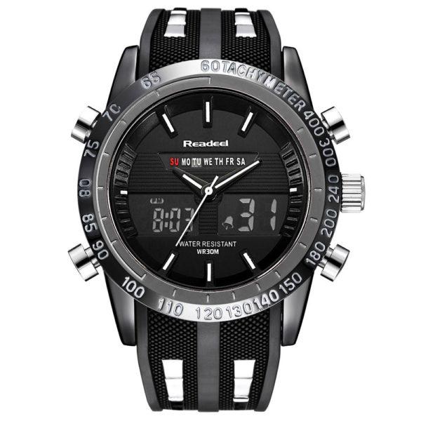 Luxury Brand Watches For Men – Waterproof Sports Watches (LED Digital Quartz)