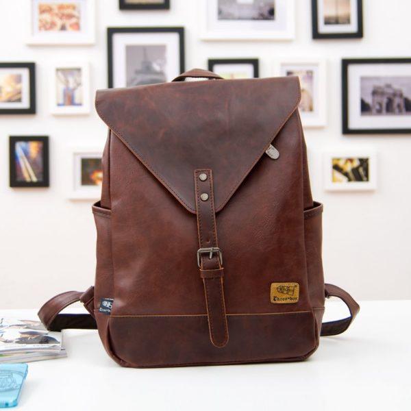 Men's & Women' Travel Backpack – Leather Business Bag & Large Laptop Travel Bag