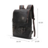 Men Business & Casual Backpacks – PU Leather Travel Bag For Laptop