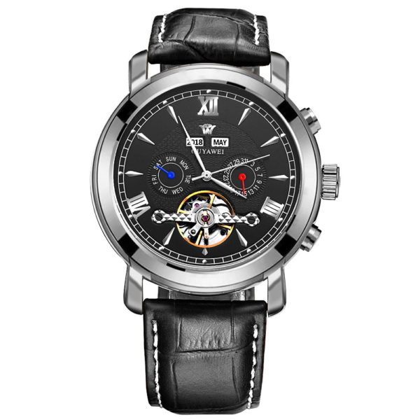 Mechanical Watches For Men – Luxury Automatic Watch (Leather Watch)