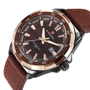 Men's Fashion Casual Sport Watches – Waterproof Leather Quartz Watch For Man