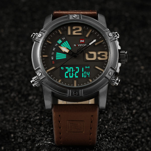 Men's Fashion Sport Watches – Quartz With Analog Date Leather Watch For Men