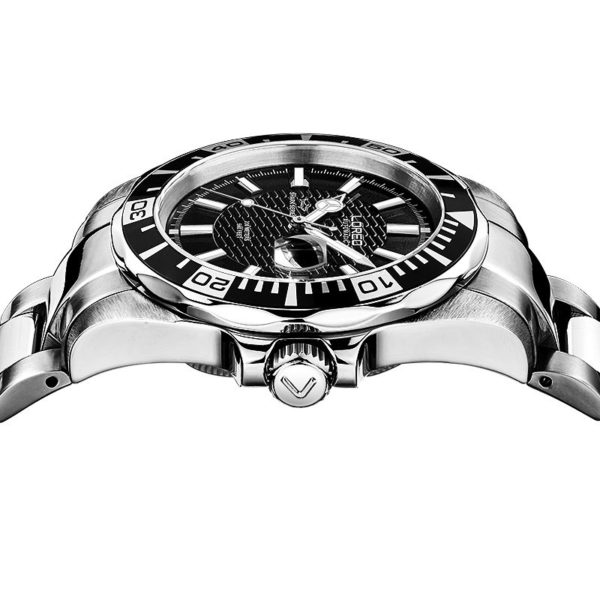 Designer Waterproof Stainless Steel Auto Date Luminous Watch (Automatic)