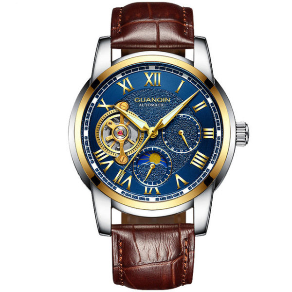 Tourbillon Mechanica Water Resistant Mens Watch – Luxury Stainless Watch (Automatic Relogio)