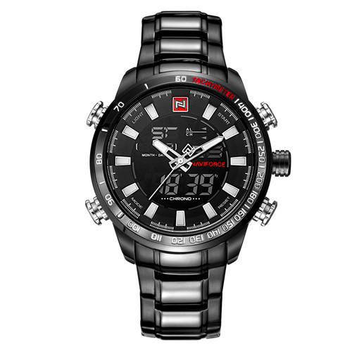 Men's Analog Stainless Steel Watch (Luxury Fashion Sport Wristwatch)