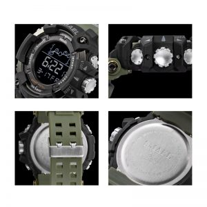 Mens Watch (Military, Water Resistant, Sports Watch, LED, Digital