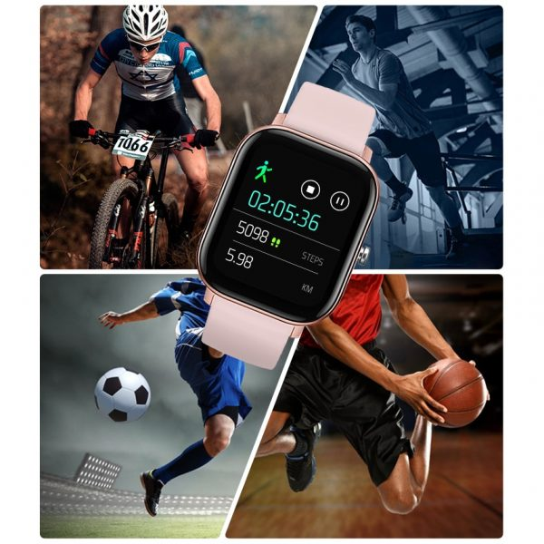 SENBONO 2020 P8 Smart Watch For Men  (Waterproof, Heart Rate, Blood Pressure Monitor, Smartwatch for IOS & Android)