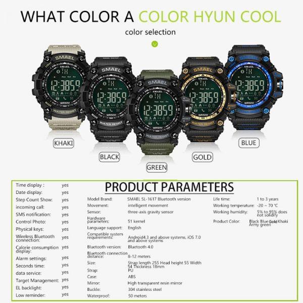 SMAEL Mens Chronograph Digital Watches (Waterproof, LED, Digital)